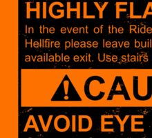 Warning: Highly Flammable - Variant Sticker
