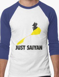 Just Saiyan !!!! Men's Baseball ¾ T-Shirt