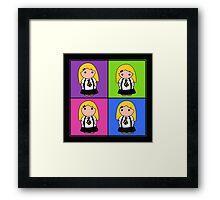 Tie Girl Arya Squared Framed Print