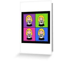 Tie Girl Arya Squared Greeting Card