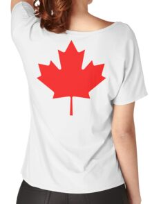 "CANADA, CANADIAN, MAPLE LEAF, Pure & Simple, Canadian Flag, National Flag of Canada, ""A Mari Usque Ad Mare"" Women's Relaxed Fit T-Shirt"