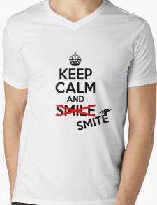 Keep calm and smite Mens V-Neck T-Shirt