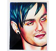 Michael blue hair Photographic Print