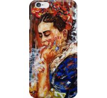 Frida and her thoughts iPhone Case/Skin