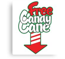free candy cane Canvas Print