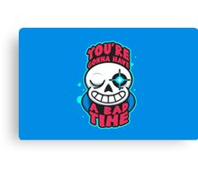 Undertale You're gonna have a bad time Canvas Print