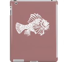 THE REDSCORPION FISH  (white on rose on powder pink) iPad Case/Skin