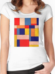 Abstract #340 Women's Fitted Scoop T-Shirt
