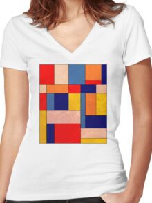 Abstract #340 Women's Fitted V-Neck T-Shirt