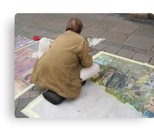 THE STREET-PAINTER Canvas Print