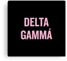 Delta Gamma Sorority Beyonce Canvas Print