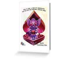 Valentines Day Bat Supprise Greeting Card