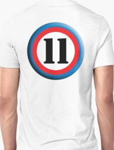 11, Eleven, Eleventh, ROUNDEL, TEAM SPORTS, NUMBER 11, Competition T-Shirt