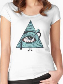 Illuminati Are Baked Women's Fitted Scoop T-Shirt