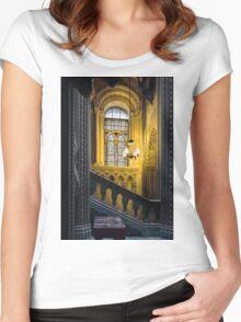 Penrhyn castle- window3 Women's Fitted Scoop T-Shirt