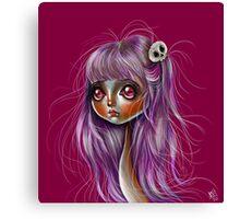 Little Skull Girl Canvas Print