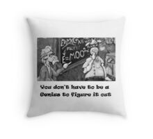 Genius Cow Throw Pillow