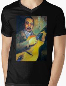 DJANGO REINHARDT Mens V-Neck T-Shirt