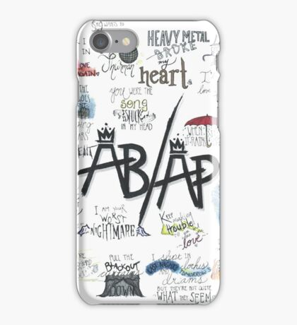 Fall Out Boy Lyric Art iPhone Case/Skin