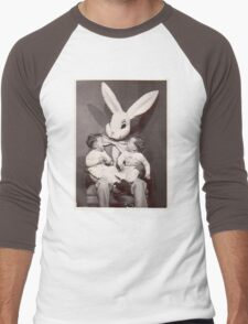 Creepy Easter Bunny Men's Baseball ¾ T-Shirt