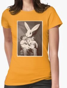 Creepy Easter Bunny Womens Fitted T-Shirt