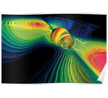 Gravitational Waves And Colliding Black Holes Poster