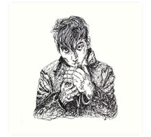 Alex Turner Scribble Drawing Art Print