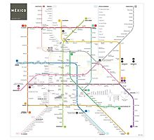 Mexico metro map Photographic Print