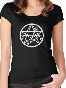 Necronomicon (white) Women's Fitted Scoop T-Shirt