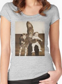 Creepy Easter Bunny 2 Women's Fitted Scoop T-Shirt