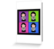 Tie Girl Jade Squared Greeting Card