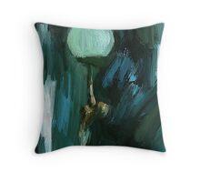 Art Deco Lamp Lady Throw Pillow
