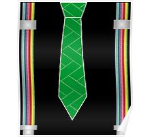 funny father's day novelty suspenders fake necktie  Poster
