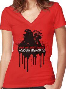 Clexa Meet Again Women's Fitted V-Neck T-Shirt