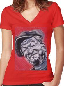 Redd Foxx Women's Fitted V-Neck T-Shirt
