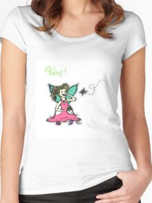 Fairy Twins! Women's Fitted Scoop T-Shirt