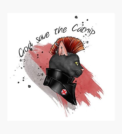 """God save the catnip"" Photographic Print"
