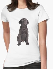 cute little labrador retriever Womens Fitted T-Shirt
