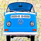 Open Roads - Classic Blue VW Campervan by Mark Tisdale