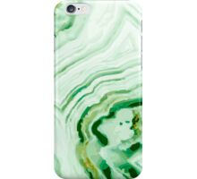 Green Abstract Geode iPhone Case/Skin