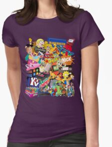 90's Life  Womens Fitted T-Shirt