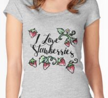 I love strawberries Women's Fitted Scoop T-Shirt