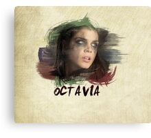 Octavia - The 100 - Brush Canvas Print