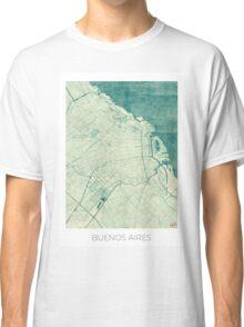 Buenos Aires Map Blue Vintage Classic T-Shirt