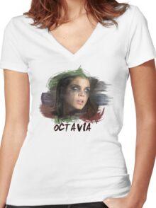 Octavia - The 100 - Brush Women's Fitted V-Neck T-Shirt