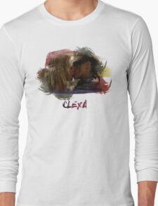 Clexa - The 100 - Brush Kiss Long Sleeve T-Shirt