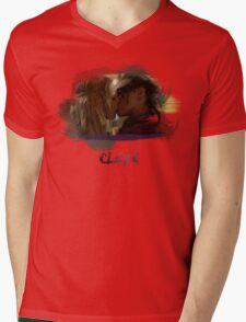 Clexa - The 100 - Brush Kiss Mens V-Neck T-Shirt