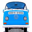 Classic VW Van On The Open Road by Mark Tisdale