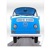 Classic VW Van On The Open Road Poster