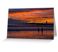 Santa Cruz Sunset Greeting Card